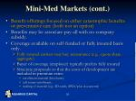 mini med markets cont