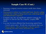 sample case 1 cont