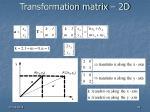 transformation matrix 2d