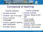 conceptual of teaching