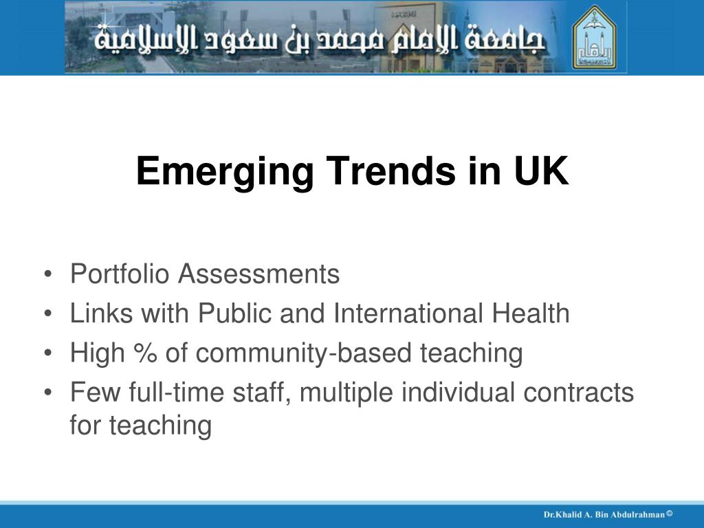 Emerging Trends in UK