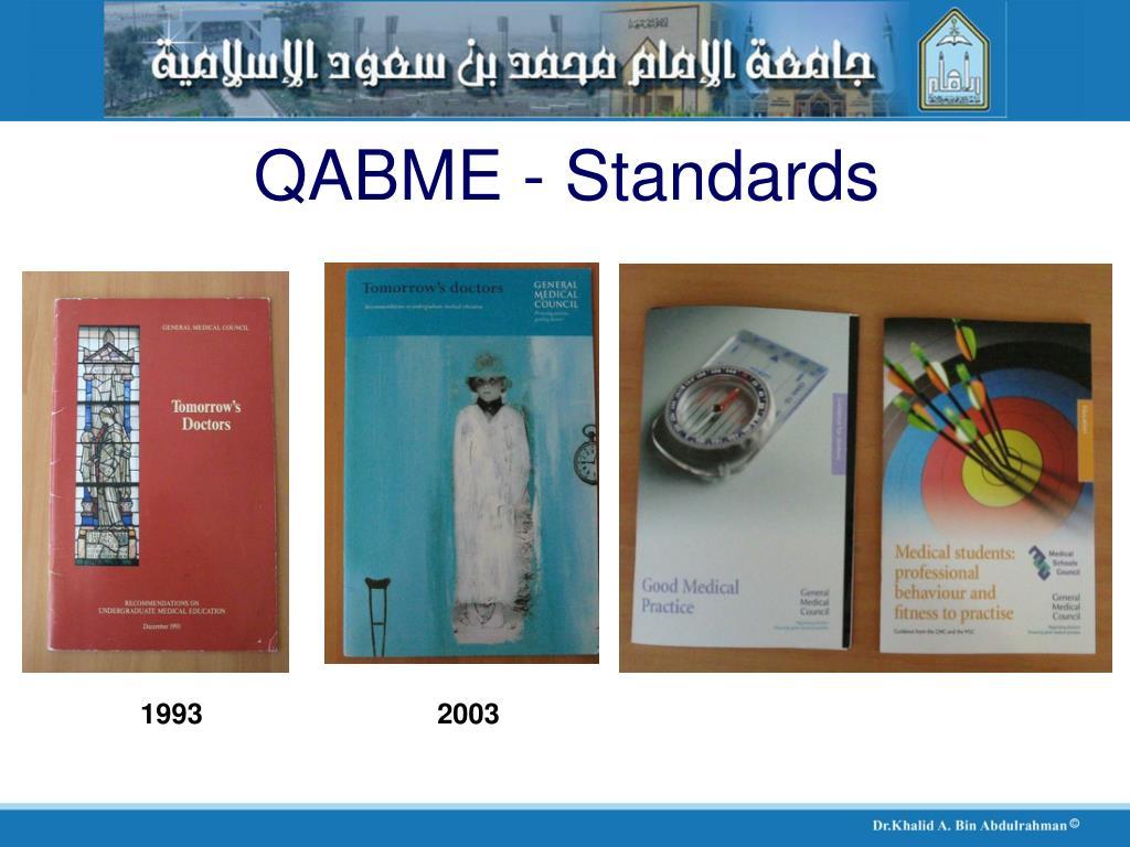 QABME - Standards