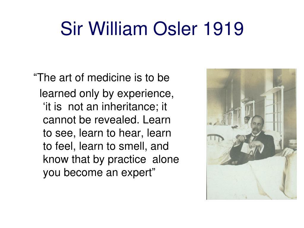Sir William Osler 1919