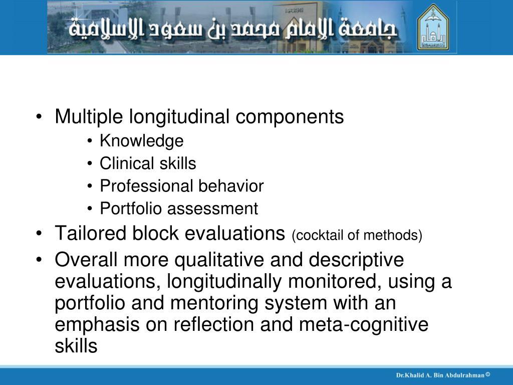 Multiple longitudinal components