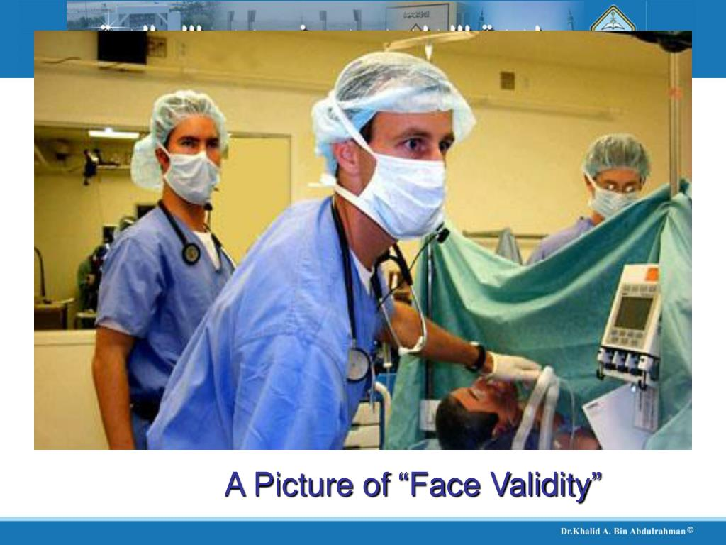 """A Picture of """"Face Validity"""""""