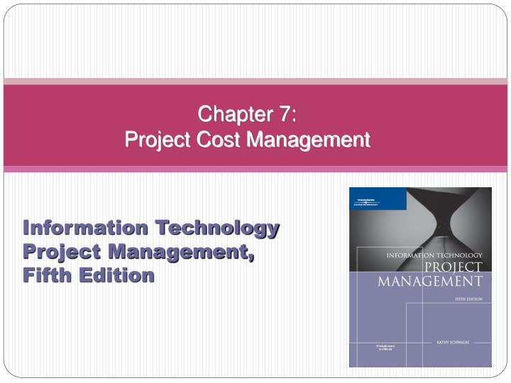 chapter 7 project cost management n.