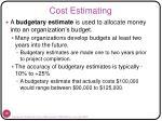 cost estimating2