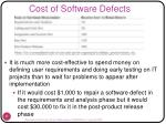 cost of software defects