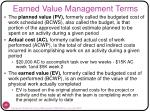earned value management terms