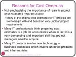 reasons for cost overruns