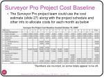 surveyor pro project cost baseline
