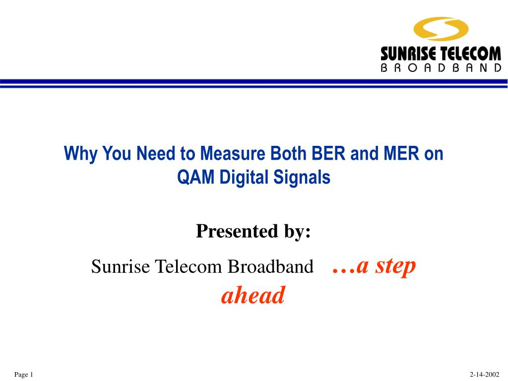 why you need to measure both ber and mer on qam digital signals l.