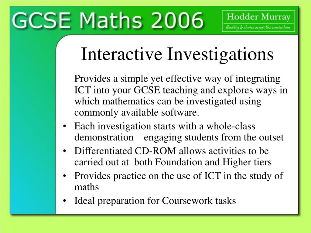 gcse maths coursework tasks edexcel