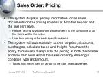 sales order pricing