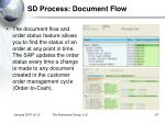 sd process document flow