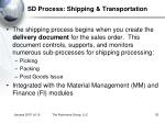 sd process shipping transportation