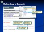 uploading a deposit