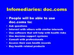 infomediaries doc coms