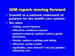 iom report moving forward