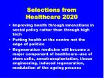 selections from healthcare 202033