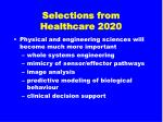 selections from healthcare 202034