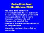 selections from healthcare 202035