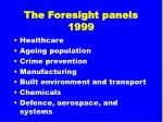 the foresight panels 1999