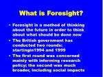 what is foresight