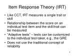 item response theory irt