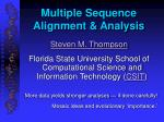 multiple sequence alignment analysis