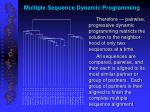 multiple sequence dynamic programming
