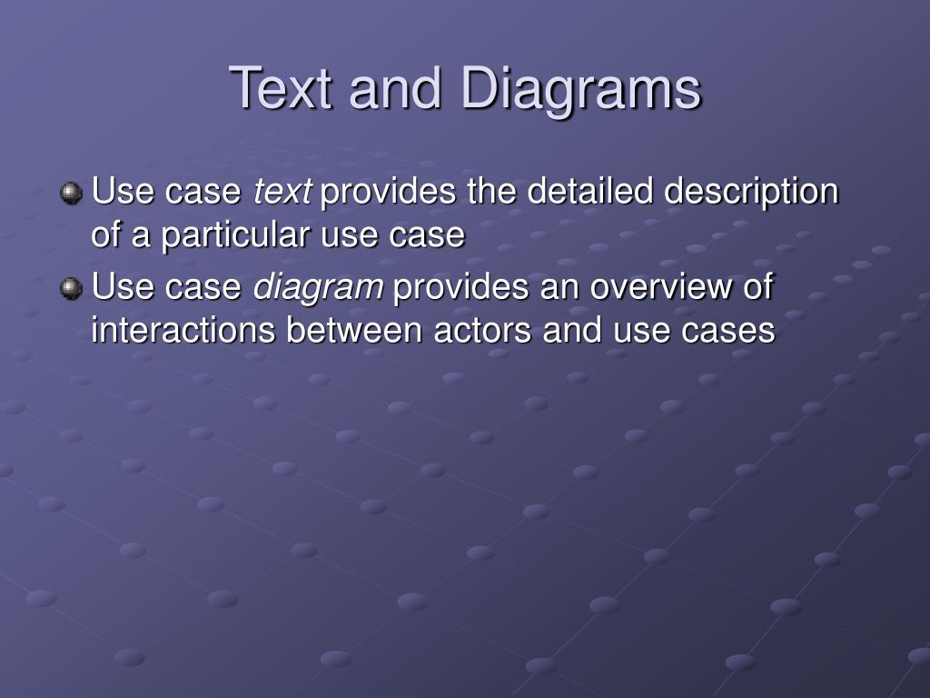 Text and Diagrams