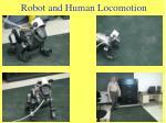 robot and human locomotion