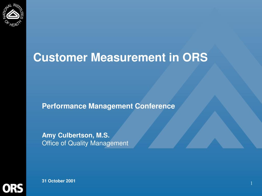 customer measurement in ors l.