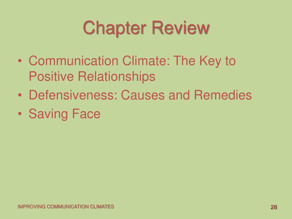 PPT - Improving communication Climates PowerPoint