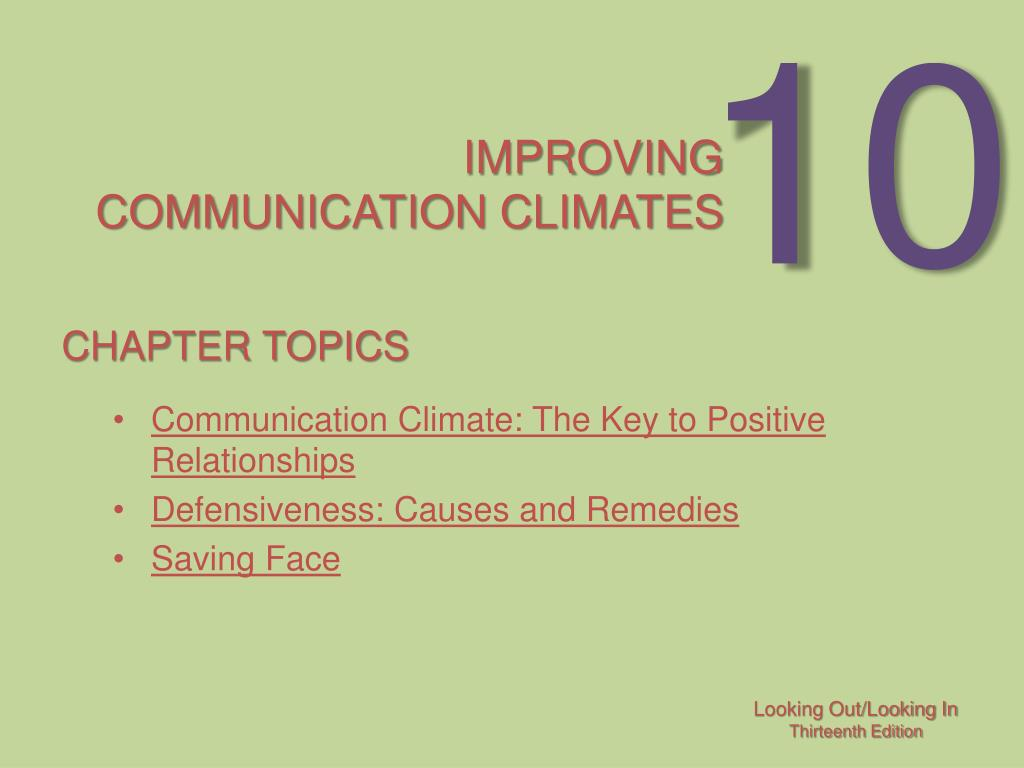 improving communication climates l.
