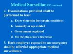 medical surveillance continued1
