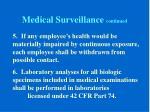 medical surveillance continued3