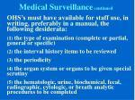 medical surveillance continued4