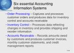 six essential accounting information systems