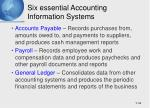 six essential accounting information systems1