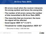 bit error rate ber