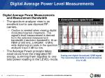digital average power level measurements