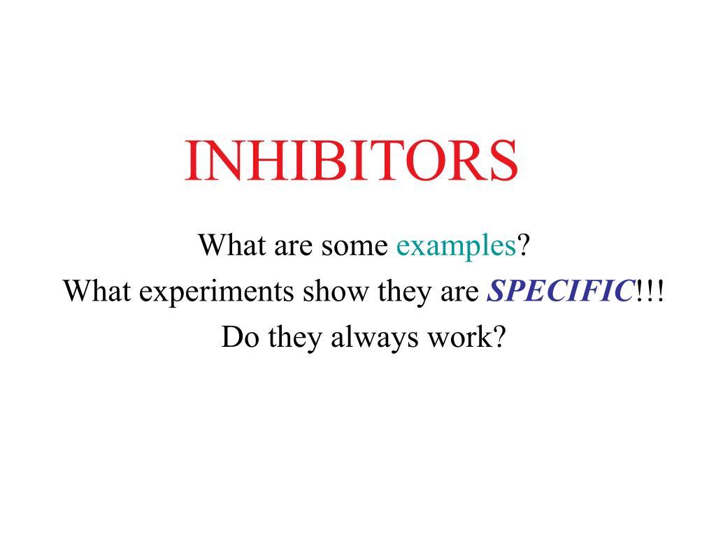 inhibitors l.