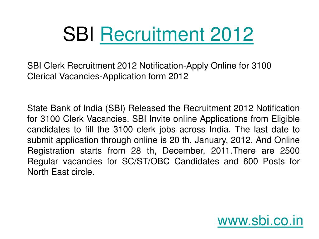sbi recruitment 2012 l.