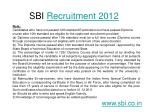 sbi recruitment 20124