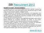 sbi recruitment 20129