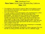 title steelhead trout place taken scoot creek monterey bay california date 2009