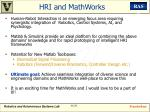 hri and mathworks