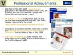 professional achievements